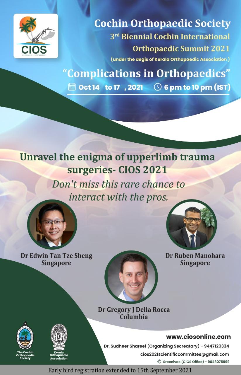 Cochin International Orthopaedic Summit 2021, CIOS 2021, Dr Ruben Manohara, Shoulder Elbow Orthopaedic